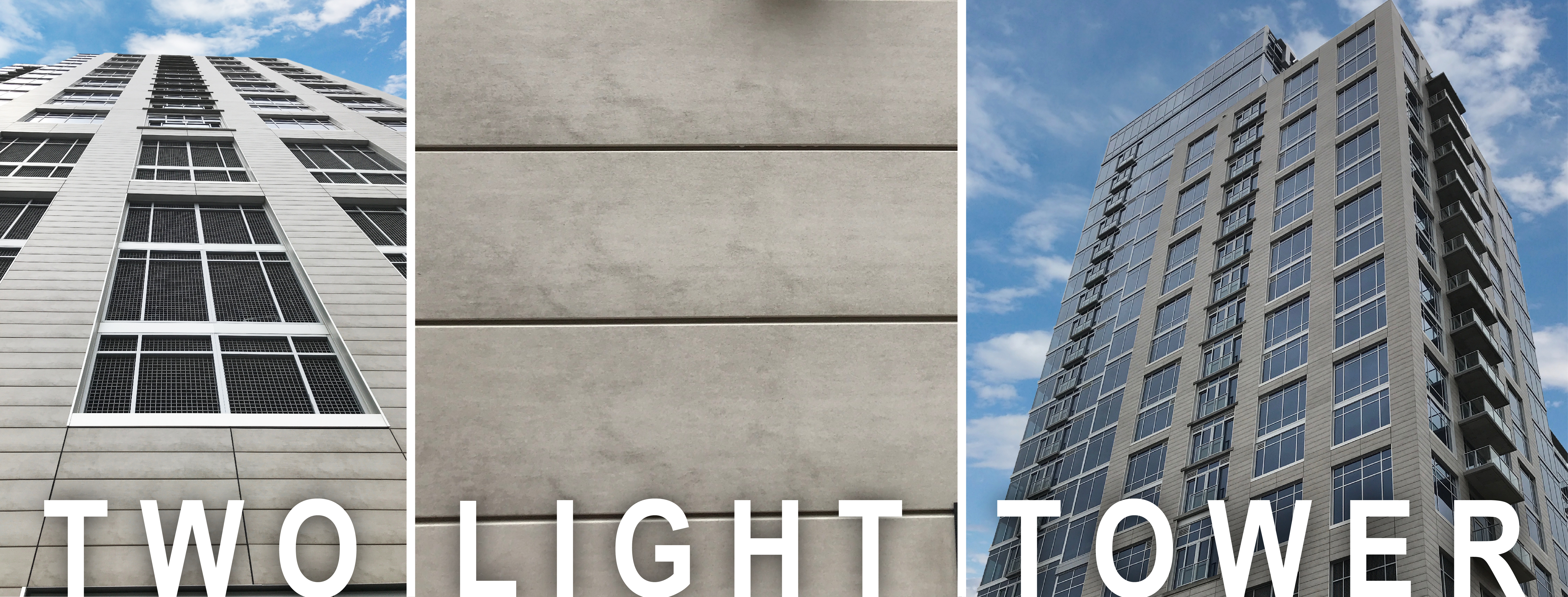 Two Light Architectural High-Rise Rainsreen Cladding
